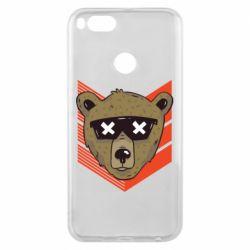 Чехол для Xiaomi Mi A1 Bear with glasses