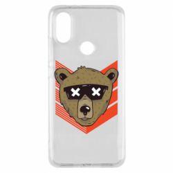 Чехол для Xiaomi Mi A2 Bear with glasses