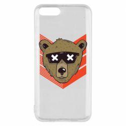 Чехол для Xiaomi Mi6 Bear with glasses