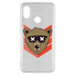 Чехол для Xiaomi Mi8 Bear with glasses