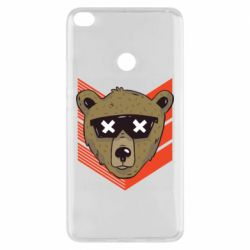 Чехол для Xiaomi Mi Max 2 Bear with glasses