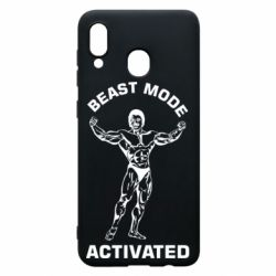 Чехол для Samsung A20 Beast mode activated