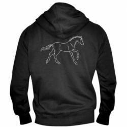 Чоловіча толстовка на блискавці Beautiful horse