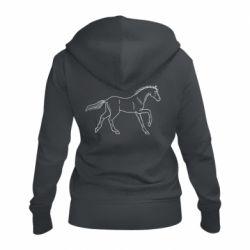 Жіноча толстовка на блискавці Beautiful horse