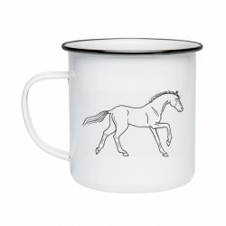 Кружка емальована Beautiful horse