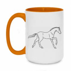 Кружка двоколірна 420ml Beautiful horse