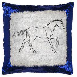 Подушка-хамелеон Beautiful horse