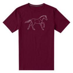 Чоловіча стрейчева футболка Beautiful horse