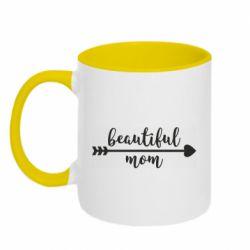 Кружка двоколірна 320ml Beautiful mom