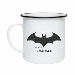 Кружка емальована Because i'm batman
