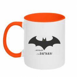 Кружка двоколірна 320ml Because i'm batman