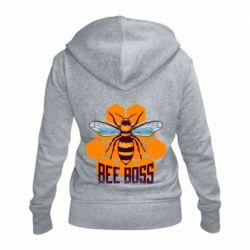 Женская толстовка на молнии Bee Boss