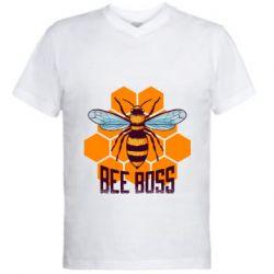 Мужская футболка  с V-образным вырезом Bee Boss