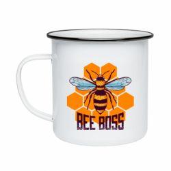 Кружка эмалированная Bee Boss