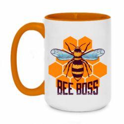 Кружка двухцветная 420ml Bee Boss