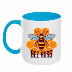 Кружка двухцветная 320ml Bee Boss