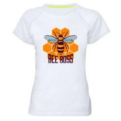 Женская спортивная футболка Bee Boss