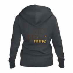 Жіноча толстовка на блискавці Sans smileBee mine