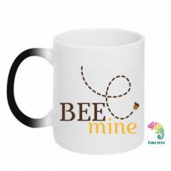Кружка-хамелеон Sans smileBee mine