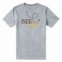 Чоловіча стрейчева футболка Sans smileBee mine
