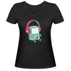 Жіноча футболка з V-подібним вирізом Beemo