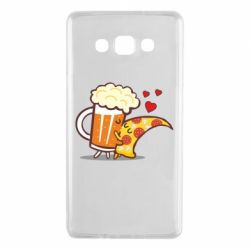 Чохол для Samsung A7 2015 Beer and Pizza were kissed
