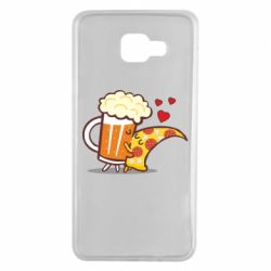 Чохол для Samsung A7 2016 Beer and Pizza were kissed