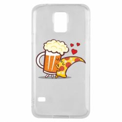 Чохол для Samsung S5 Beer and Pizza were kissed