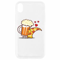 Чохол для iPhone XR Beer and Pizza were kissed