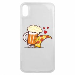 Чохол для iPhone Xs Max Beer and Pizza were kissed