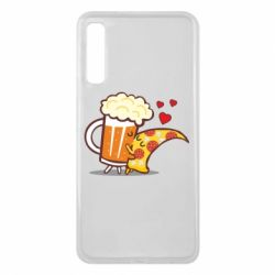 Чохол для Samsung A7 2018 Beer and Pizza were kissed