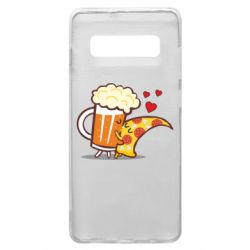 Чохол для Samsung S10+ Beer and Pizza were kissed