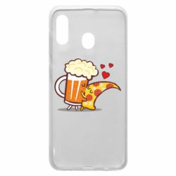 Чохол для Samsung A20 Beer and Pizza were kissed