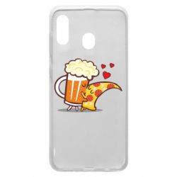 Чохол для Samsung A30 Beer and Pizza were kissed