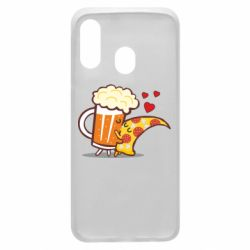 Чохол для Samsung A40 Beer and Pizza were kissed