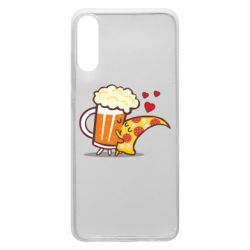 Чохол для Samsung A70 Beer and Pizza were kissed