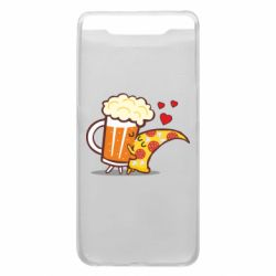 Чохол для Samsung A80 Beer and Pizza were kissed