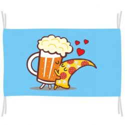 Прапор Beer and Pizza were kissed