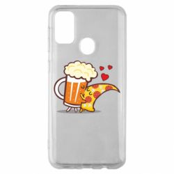 Чохол для Samsung M30s Beer and Pizza were kissed