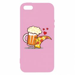 Чохол для iphone 5/5S/SE Beer and Pizza were kissed