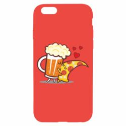 Чохол для iPhone 6/6S Beer and Pizza were kissed