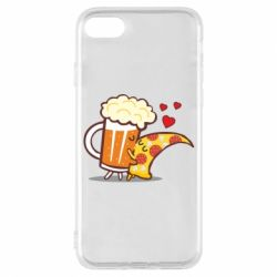 Чохол для iPhone 8 Beer and Pizza were kissed