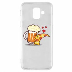 Чохол для Samsung A6 2018 Beer and Pizza were kissed