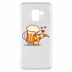 Чохол для Samsung A8 2018 Beer and Pizza were kissed
