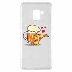 Чохол для Samsung A8+ 2018 Beer and Pizza were kissed