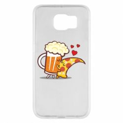 Чохол для Samsung S6 Beer and Pizza were kissed