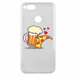 Чохол для Xiaomi Mi A1 Beer and Pizza were kissed