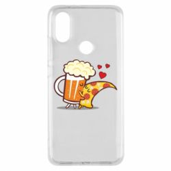 Чохол для Xiaomi Mi A2 Beer and Pizza were kissed