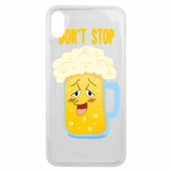 Чохол для iPhone Xs Max Beer don't stop