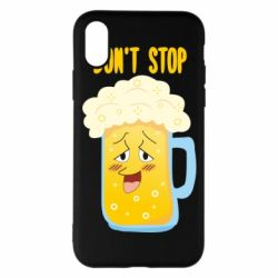 Чохол для iPhone X/Xs Beer don't stop